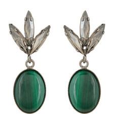 Malachite Stone Drop Earrings