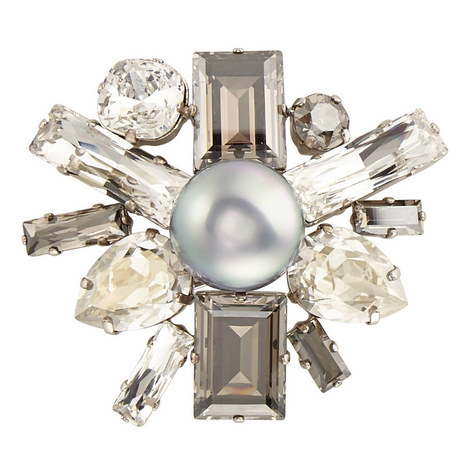 Pearl Crystal Pin Large, ${color}