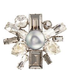 Pearl Crystal Pin Large