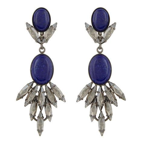 Long Drop Lapis Earrings, ${color}
