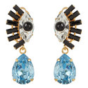 Crystal Eye Drop Earrings , ${color}