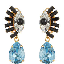 Crystal Eye Drop Earrings