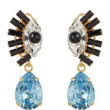 Crystal Eye Drop Earrings