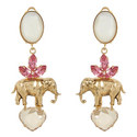 Elephant Drop Earrings, ${color}