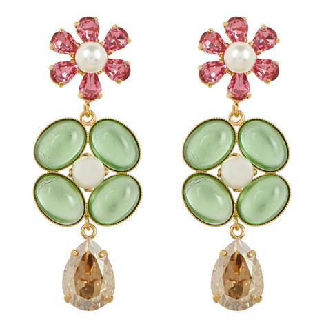 Flower Drop Earrings , ${color}
