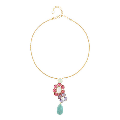 Amazonite Tear Drop Necklace , ${color}