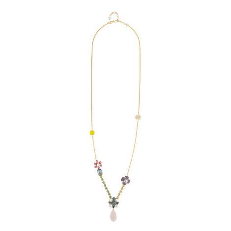 Long Crystal & Quartz Necklace, ${color}