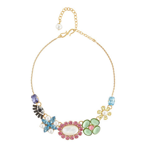 Crystal Collar Necklace , ${color}