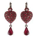 Crystal Heart Drop Earrings, ${color}