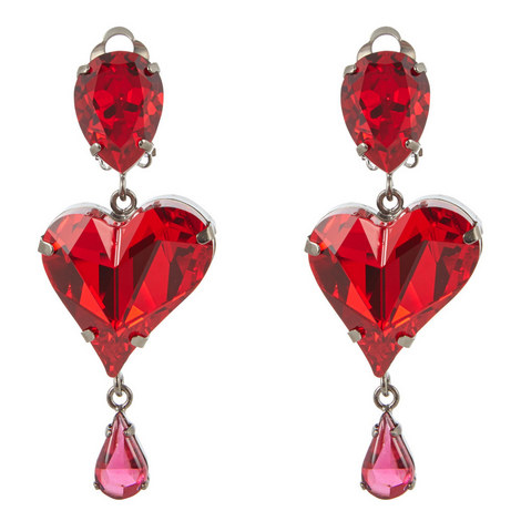 Short Heart Drop Earrings, ${color}