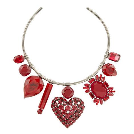 Heart Crystal Torque Necklace, ${color}
