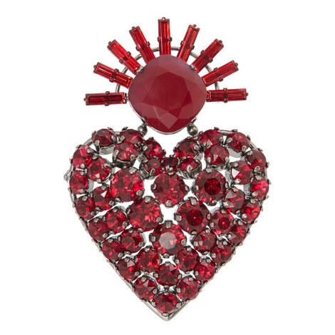 Crystal Heart Brooch, ${color}