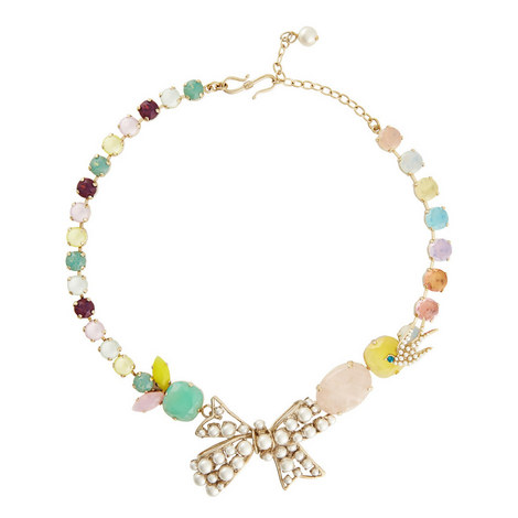 Bow Pearl Necklace, ${color}