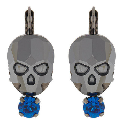 Skull Drop Earrings, ${color}
