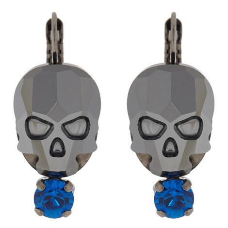 Skull Drop Earrings, ${color}