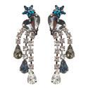 Triple Drop Crystal Earrings, ${color}