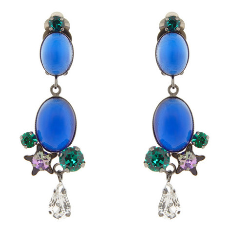 Drop Clip-On Earrings, ${color}