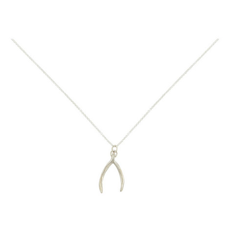 Wishbone Pendant Necklace, ${color}
