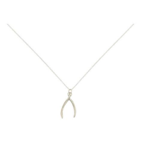 Wishbone Pendant Necklace, ${color}