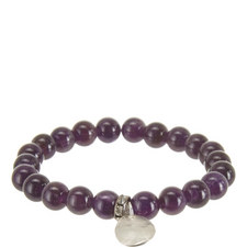 Fingerprint Locket Amethyst Bracelet