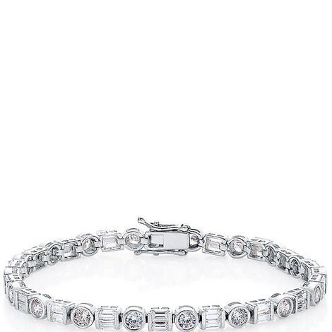 Bezel Tennis Bracelet, ${color}
