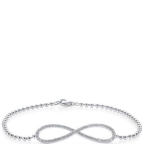 Sterling Silver Infinity Bracelet, ${color}