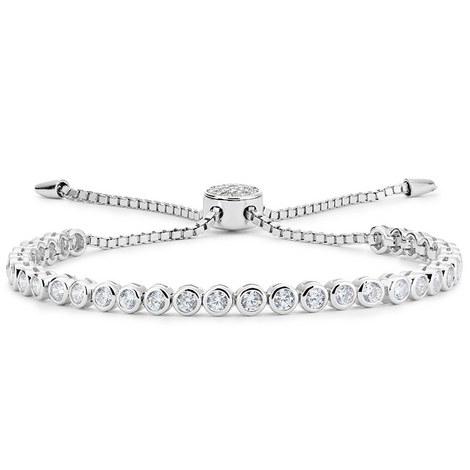 Bezel Slider Chain Bracelet, ${color}