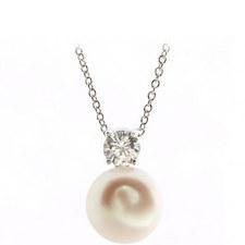 Diamond Pearl Pendant Necklace