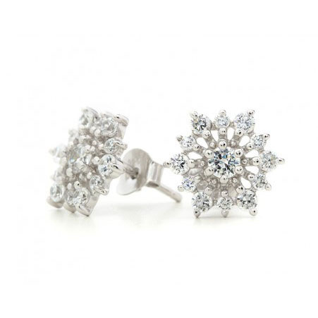 Lia Flower Stud Earrings, ${color}