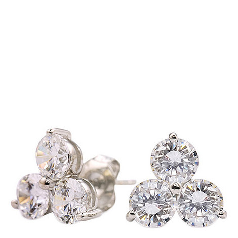 Trilogy Cluster Stud Earrings, ${color}