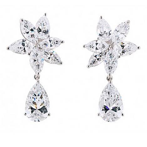 Fabulous Crystal Drop Earrings, ${color}
