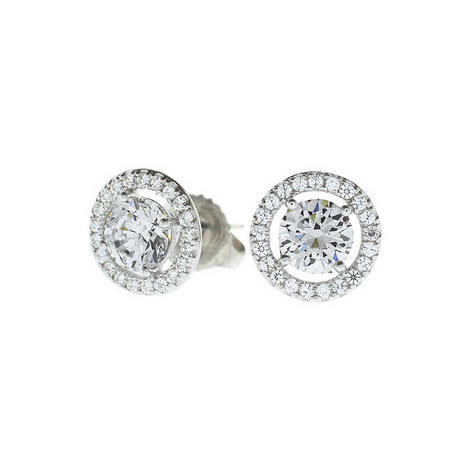 Miss Halo Stud Earrings, ${color}