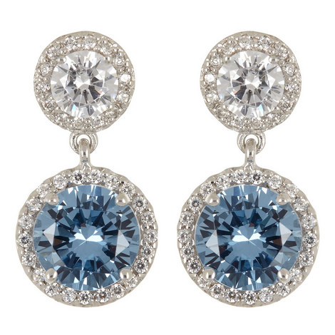 Clara Double Round Drop Earrings, ${color}