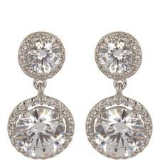 Clara Double Round Drop Earrings