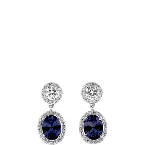 Clara Oval Drop Earrings, ${color}