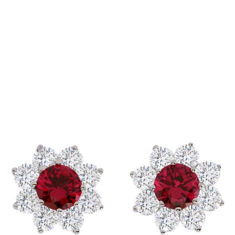 Ruby Bloom Stud Earrings, ${color}