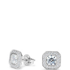 Deco Asscher Stud Earrings