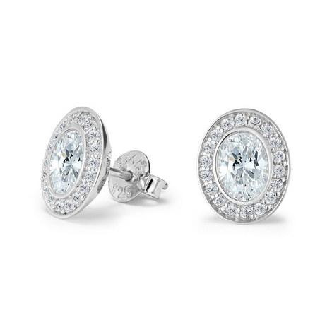 Deco Oval Stud Earrings, ${color}