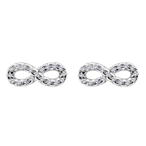 Infinity Stud Earrings, ${color}