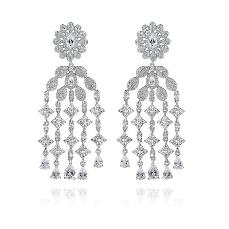 Marquise Waterfall Earrings, ${color}