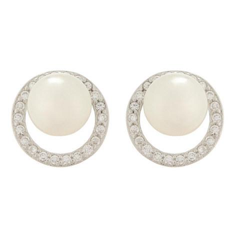 Belinda Circular Pearl Earrings, ${color}