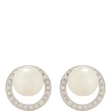 Belinda Circular Pearl Earrings