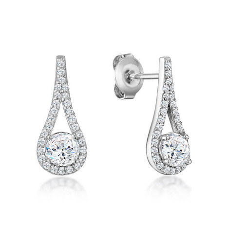 Cecila Crystal Drop Earrings, ${color}