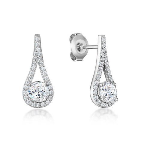 Cecila Crystal Drop Earrings, ${color}
