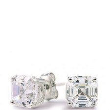 Asscher Stud Earrings