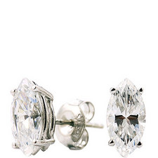 Classic Marquise Earrings 1 Carat