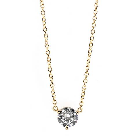 Round Gold-Toned Necklace, ${color}