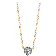 Round Gold-Toned Necklace