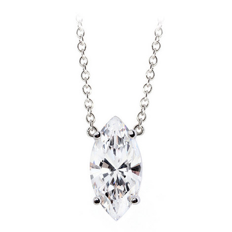 Marquise Floating Pendant Necklace, ${color}