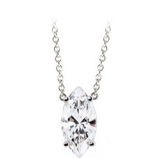 Marquise Floating Pendant Necklace